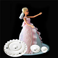 4pcs Barbie Skirt Cutter Fondant Cake Decorating Sugarcraft Embosser Mold Mould