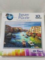 3D lenticular jigsaw puzzle, 500 pieces, Grand Canal, Venice