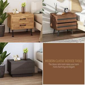 Wooden Bedside Table Nightstand StorageCabinets Furniture Bedroom Sofa Unit Side