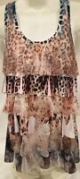 Panhandle Slim Womans Blouse Lace/ Leopard Size L (A)