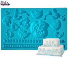 Silicone Lace Mold Lace Mat Fondant Gumpaste Sugar Embosser Mould Tool