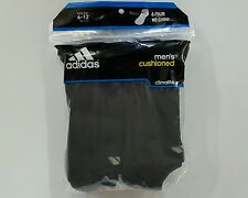 Men's Adidas Climalite Cushioned No Show Athletic Socks 6 Pair Size 6-12 Black