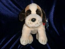"RUSS BERRIE BROWN WHITE ST. BERNARD PUPPY DOG BEANBAG PLUSH ITEM 4392 11"" 13"""