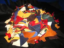 !Deerskin Leather! 2lbs Small Color Pieces 2lbs !Crafts/Lacing/Strips/Tie s!
