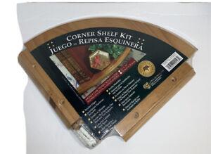"NEW Jamestown Woodworks Corner Shelf Kit Honey Oak 10"" x10""-Made in South Africa"