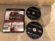 Gladiator/Braveheart 2-Movie Collection (4K Uhd + Case w/Artwork )
