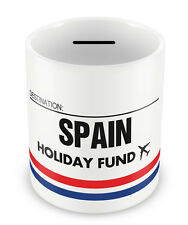 SPAIN Holiday Fund Money Box - Gift Idea Travelling Savings Piggy Bank