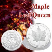 Collection d'artisanat plaqué argent à la feuille d'érable de la reine canadienn