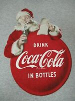 DRINK COCA-COLA IN BOTTLES - SANTA CLAUSE - 2XL - GRAY T-SHIRT- A1595