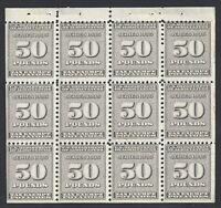 United States Scott RI18a 50 Pounds Potato Tax Mint Never Hinged pane of 12