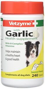 Vetzyme Garlic Tablets For Dogs, 240 Tablets - Vitamin B Health Supplement