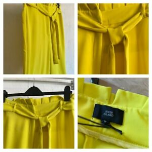 Ladies RIVER ISLAND Lime Cropped Trousers Sizes 6-18 Brand New