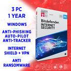 Bitdefender Internet Security 2021 3 PC 1 year, Activation Key FULL EDITION +VPN