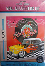Giant 'Rock & Roll' Party Wall Decoration Over 5 Feet Tall Liven up Parties