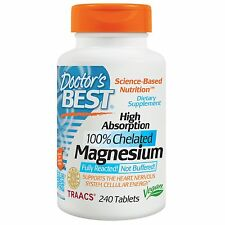 DOCTORS BEST HIGH ABSORPTION MAGNESIUM - 240 VEGETARIAN TABLETS - 100% CHELATED