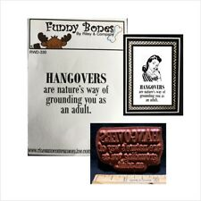 Hangovers Cling Rubber Stamp RWD-330 Riley and Company stamps words humor