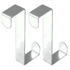 2 Stück  Edelstahl Haken Türhaken Kleiderhaken Türhänger Garderobenhaken Tür