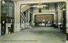 Cedar Rapids IA~Hotel Montrose Lobby~Marble Counters~Spittoons~Bellboy 1907 PC