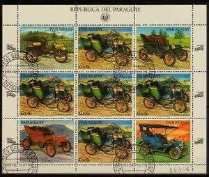 Kleinbogen  Paraguay 1983 MiNr.  3639 Auto , Oldtimer , car , coche gestempelt