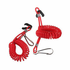 Universal Motor Outboard Safety Pull Rope Coil Elastic Spiral Key Clip Holder