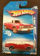 Hot Wheels Faster Than Ever '70 Chevy Chevelle Red Convertible 2009 Mattel - New