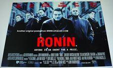 RONIN  POSTER ORIGINAL STUDIO ISSUED 2000 UK  MINI QUAD MINT ROBERT DE NIRO