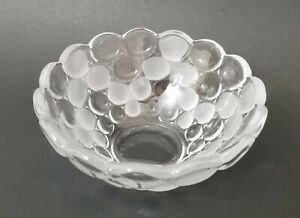 """Heavy Thick Cut Glass Bowl Candy Dish 5-1/2""""x 3"""""""
