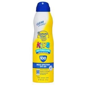 Banana Boat Kids Max Protect & Play Sunscreen Spray, SPF 100, 6 oz