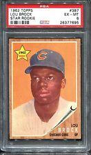 1962 Topps #387 Lou Brock RC PSA 6 +++ HOF Centered Sharp Chicago Cubs
