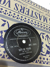 "JOHNNY PRESTON cradle of love/city of tears INDIA RARE 78 RPM RECORD 10"" VG+"