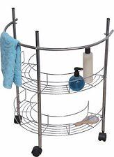 Evideco Under Sink Organizer Rolling Pedestal Storage Unit Wire Metal Chrome