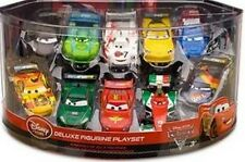 Disney Store Cars 2 Deluxe 10 Car Figure Figurine Play Set Cake Topper Pixar Toy
