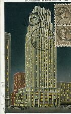 Carte ETATS UNIS HOUSTON Texas Gulf Building by Night