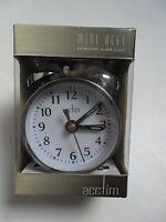 Acctim 25/457S - Mini Double Bell Alarm Clock Silver