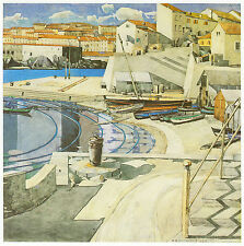 Little Bay PORT VENDRES Charles Rennie Mackintosh 10x12 pollici pronto stampa montata