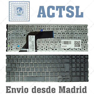 Teclado Español para portátil HP Probook 4510S 4515S 4710S / NEGRO sin MARCO