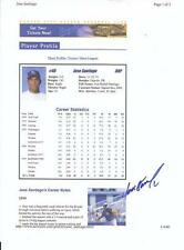JOSE SANTIAGO Autographed Signed 2000 website page print Kansas City Royals COA