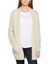 Dash Women Chunky Cable Knit Cardigan Beige Neutral Size Small 8 10 Alpaca Wool