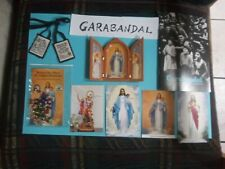 Garabandal items:Rosary Relic.Brown Scapular.Booklet.Table Base.Import Spain