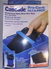 CCF235 Penn Plax Cascade 2 pack of Pro-Carb Filt-A-Pack for Canister Filters
