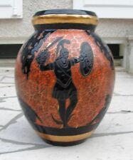 """RARE et imposant vase en grès  Kéramis décor """"Persée et les Gorgones"""""""