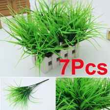 7Pcs Artificia Plastic Green Grass Plant Flowers Office Home Garden Decoration