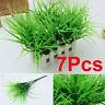 7Pcs Artificia Plastic Green Grass Plant Flowers Office Home Garden Decoration