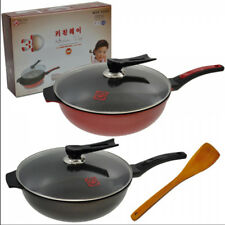 Cooking Frying Pan for Kitchen with Handle and Lid Cover -( 32cm Diameter )