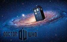 Doctor Who Tardis 7x11 Fabric Block - Great 4 quilting, Pillows & Embroidery!