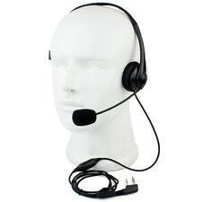 RETEVIS 2 PIN PTT Mic Headphone Headset for KENWOOD RETEVIS Baofeng UV5R Radio