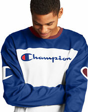 Champion Vida Camiseta De Fútbol Hombres Script Logo Grande C Manga Larga Auténtico Acanalado