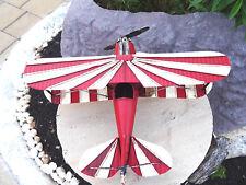 Flugzeug Blech Propellermaschine Doppeldecker Winchester Retro Deko Geschenk