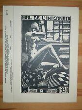 314-Bal de l'Internant de Médecine 1930, invitation grand format  avec un bois