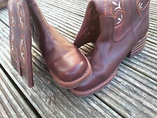Original Women SOFT real Leather Western Boots size EU40/ UK6.5-7 **Good**